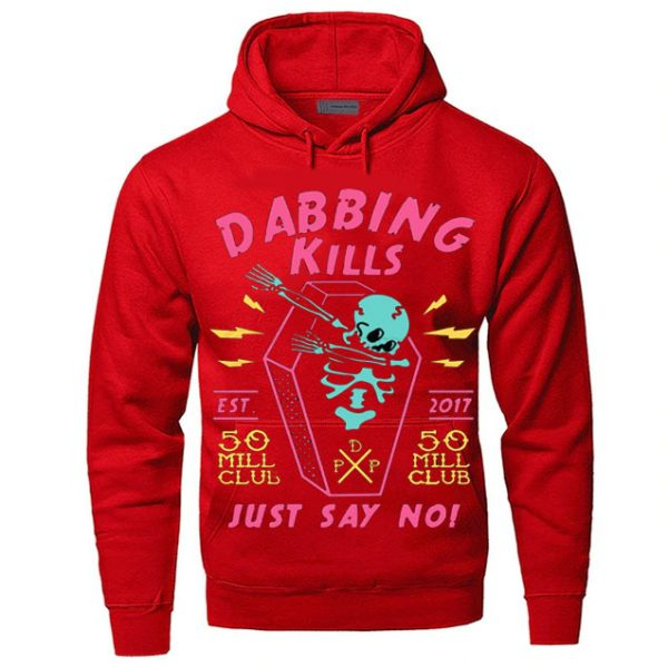 Red Color With Pewdiepie Dabbing Kill Men's Hoodies