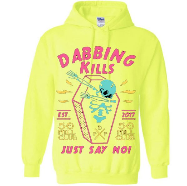 Yellow Color With Pewdiepie Dabbing Kill Men's Hoodies